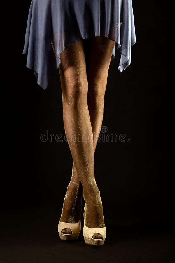 ноги чулков стоковая фотография