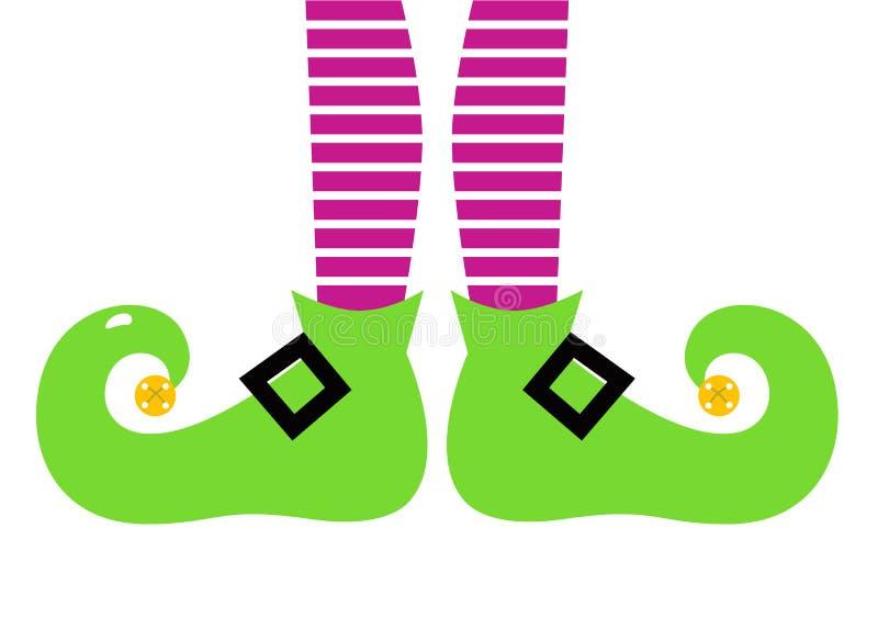 Ноги эльфа милого шаржа цветастые иллюстрация штока