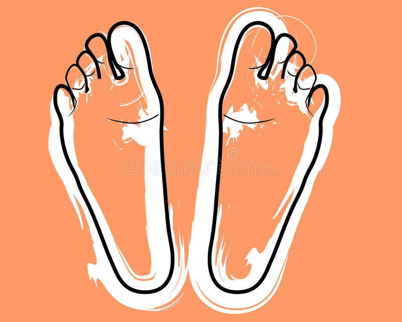 ноги иллюстрация вектора