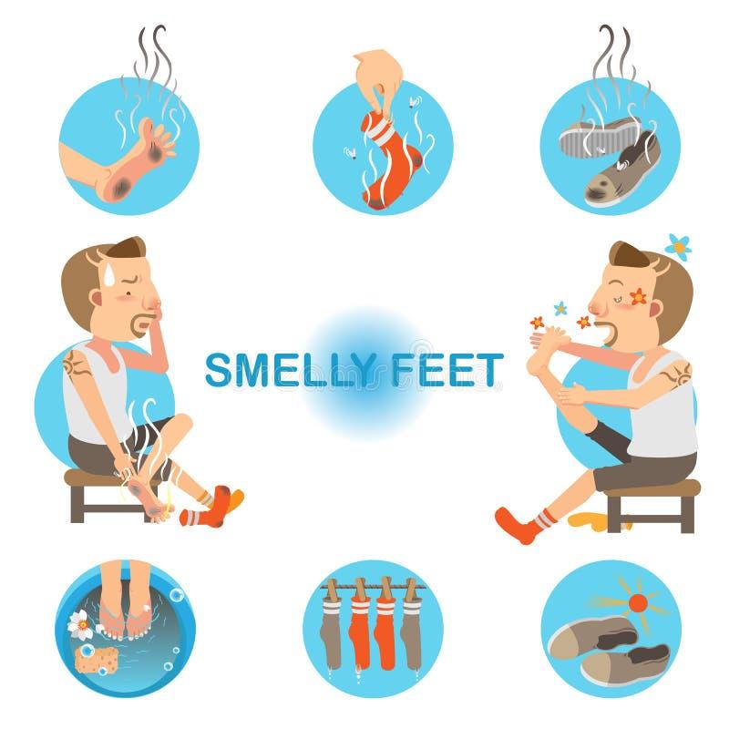 ноги smelly иллюстрация вектора