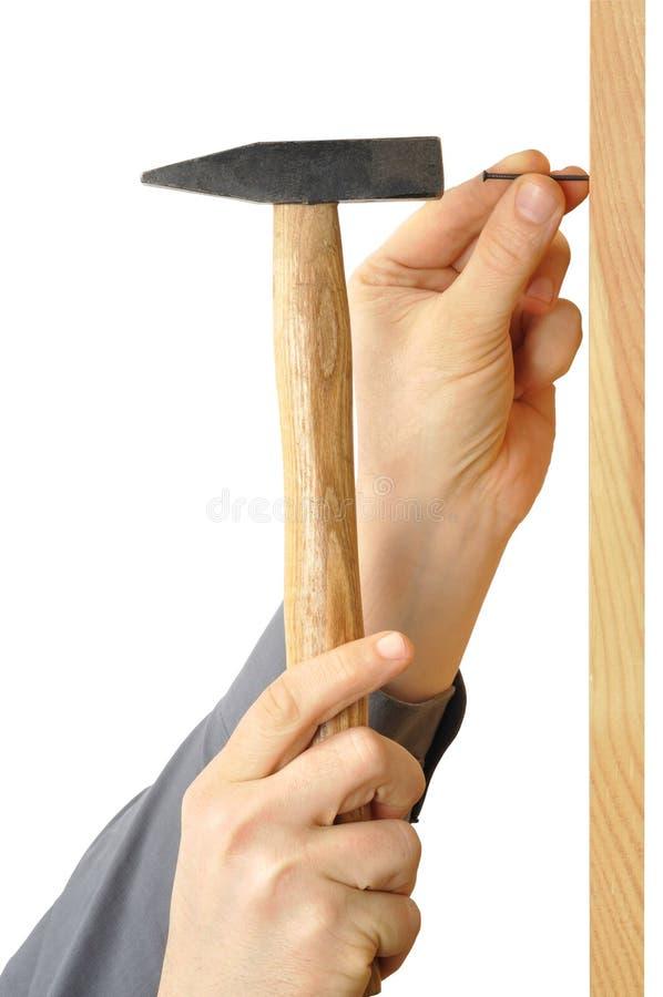 ноготь молотка стоковое изображение