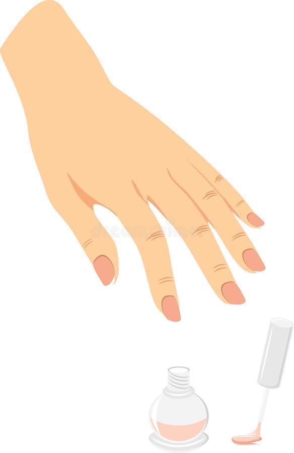 ноготь французского manicure эмали бесплатная иллюстрация