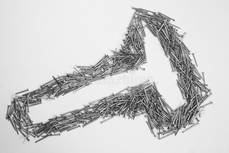 Ногти изолированные на белой предпосылке инструменты деятельности стоковое фото rf