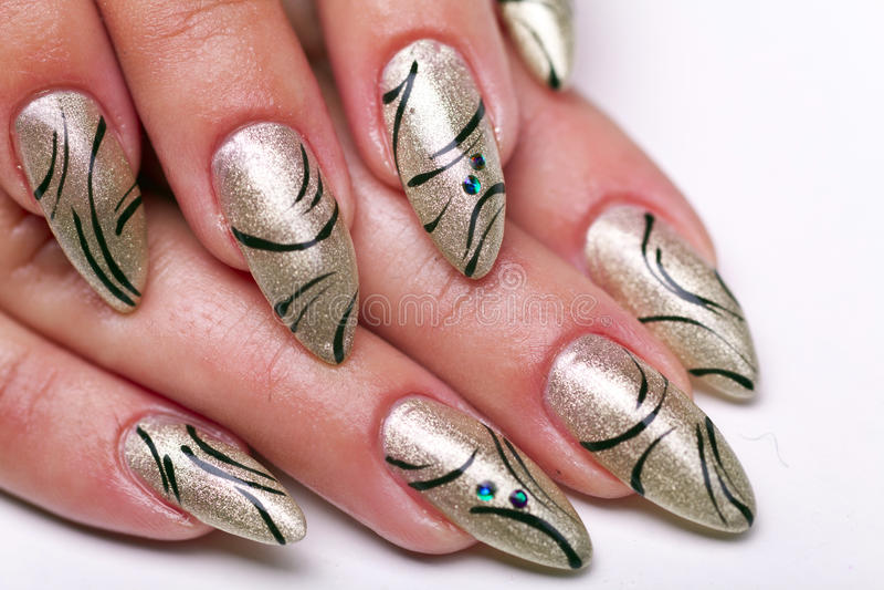 ногти manicure стоковые фото
