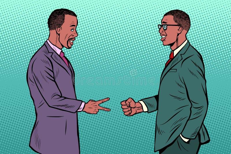 Ножницы африканского утеса игры бизнесменов бумажные бесплатная иллюстрация