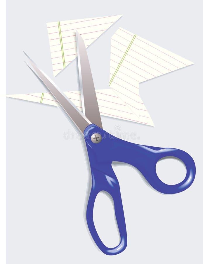 Ножницы и бумага иллюстрация штока