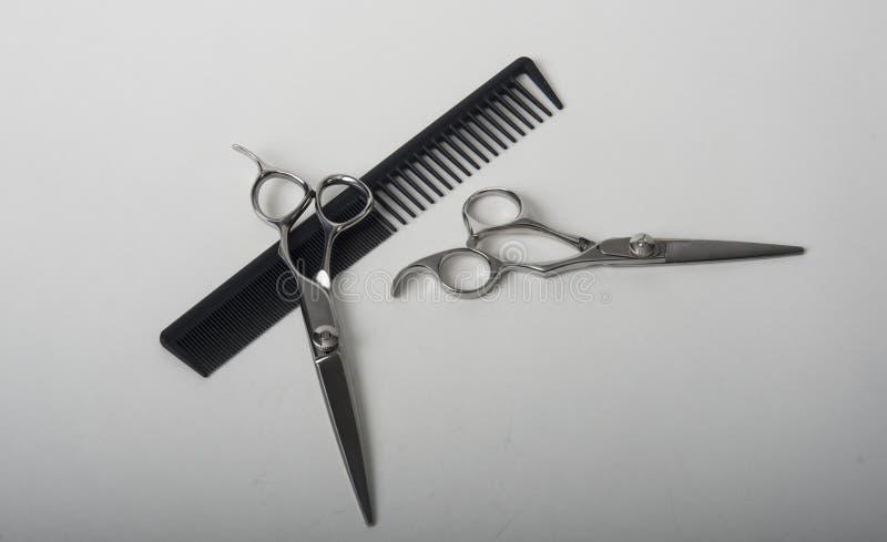 Ножницы с гребнем стоковое изображение
