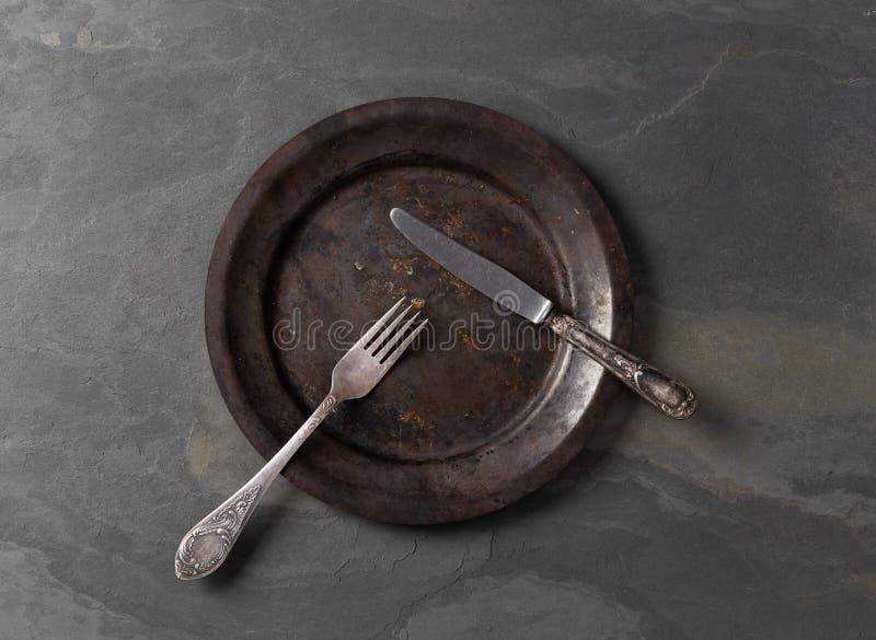 нож вилки старый стоковое изображение rf
