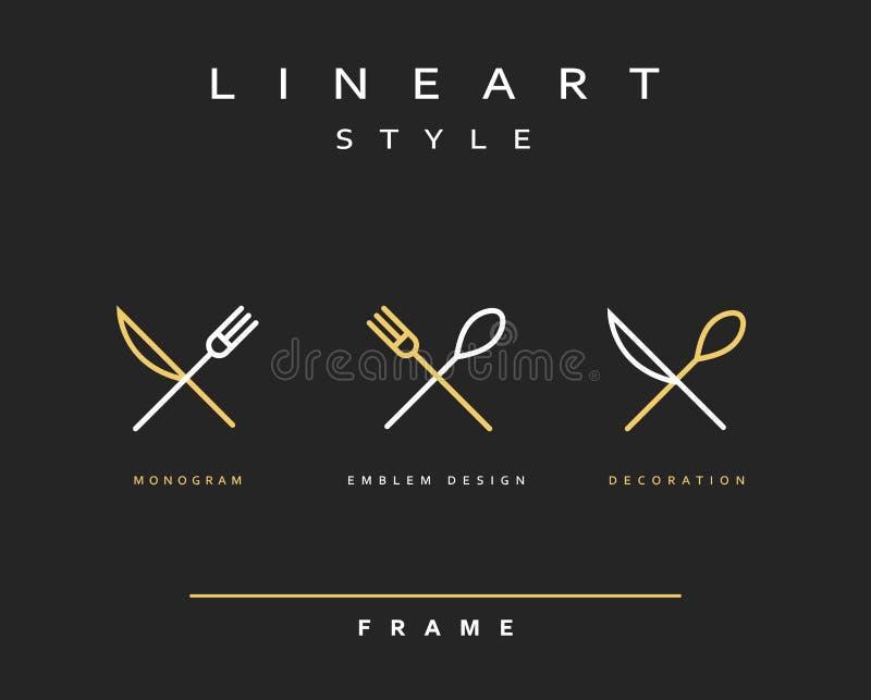 Нож, вилка и ложка значка бесплатная иллюстрация