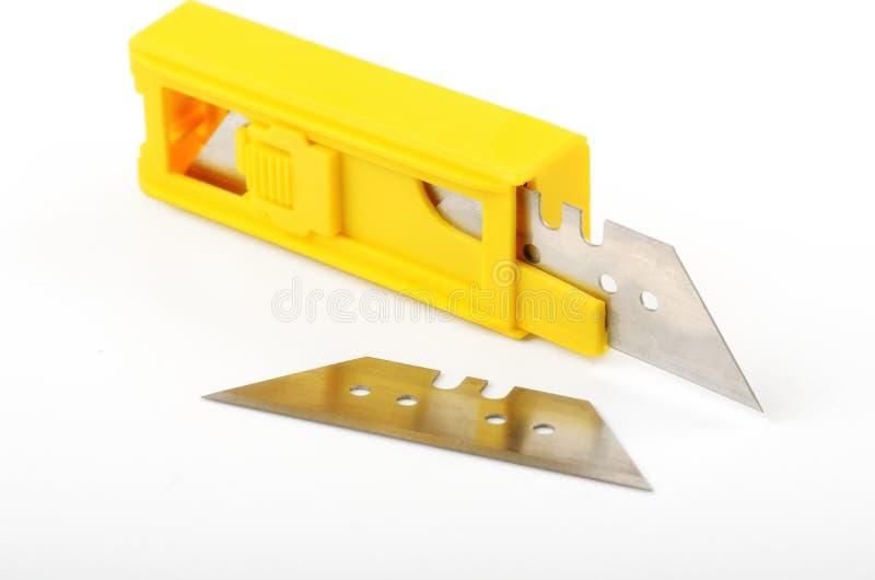 Нож канцелярских принадлежностей блока стоковое фото rf