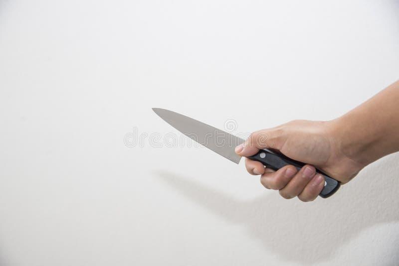 Нож на белой предпосылке стоковые изображения