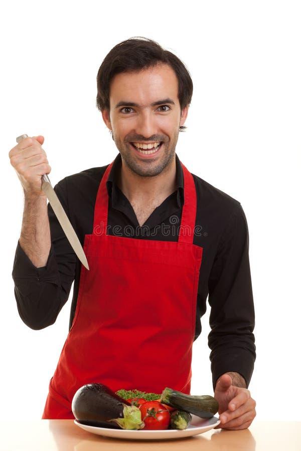 нож шеф-повара шальной стоковое фото rf
