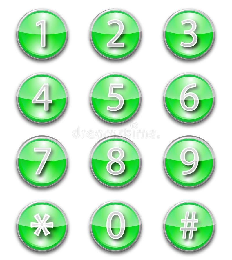 номера икон иллюстрация вектора