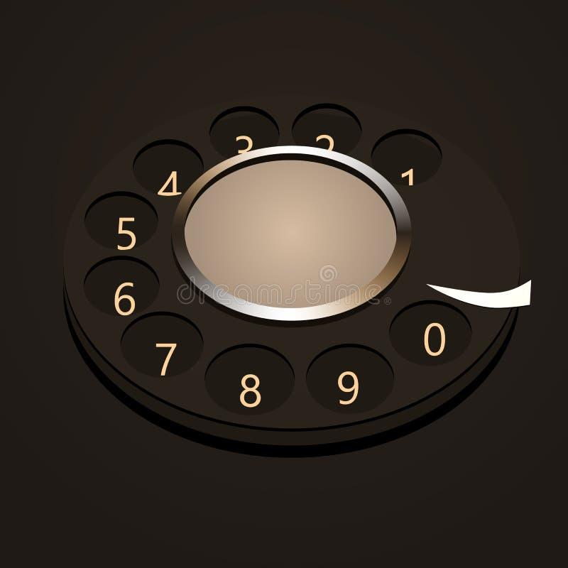 Номера диска телефона иллюстрация штока