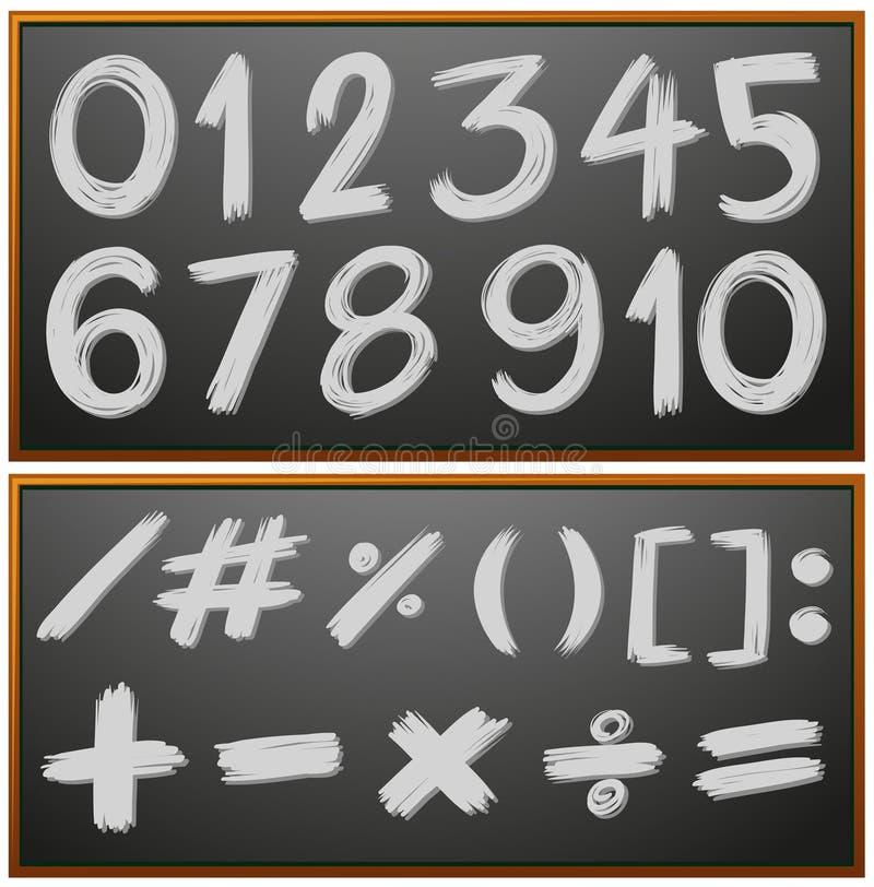 Номера и знаки на классн классном бесплатная иллюстрация