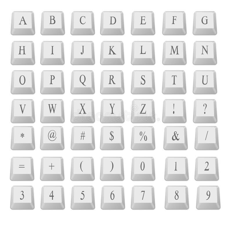 номера клавиатуры алфавита иллюстрация штока