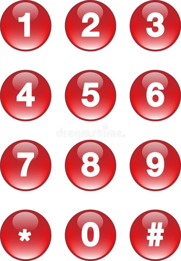 номера кнопок иллюстрация штока