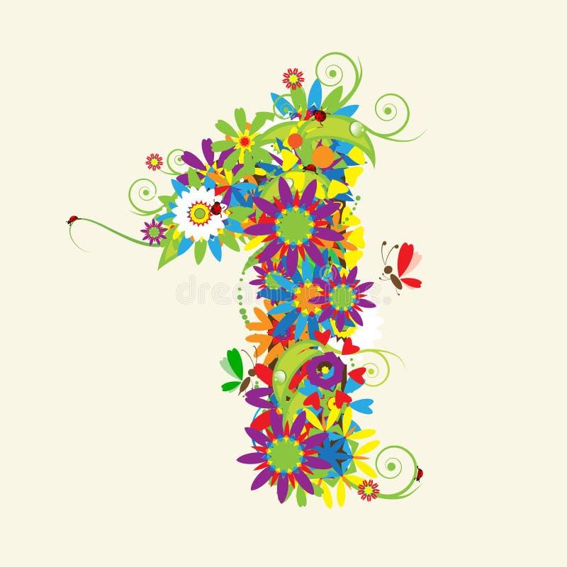 номера конструкции флористические бесплатная иллюстрация