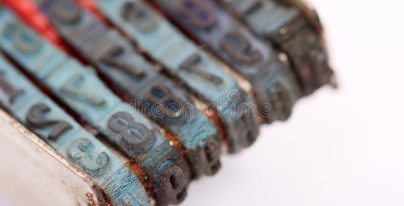 Номера макроса избитых фраз стоковое изображение rf