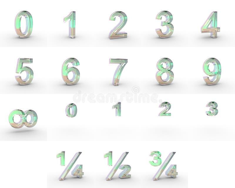 Номера мыла стоковое изображение rf