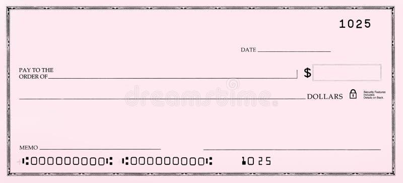 номера незаполненного чек ложные стоковые изображения