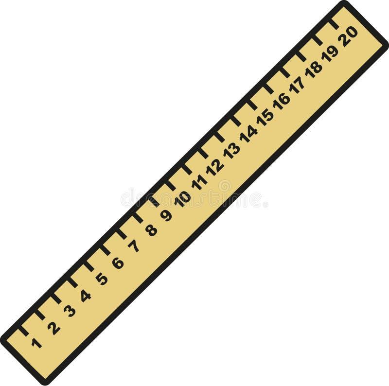 Номера острословия правителя иллюстрация вектора