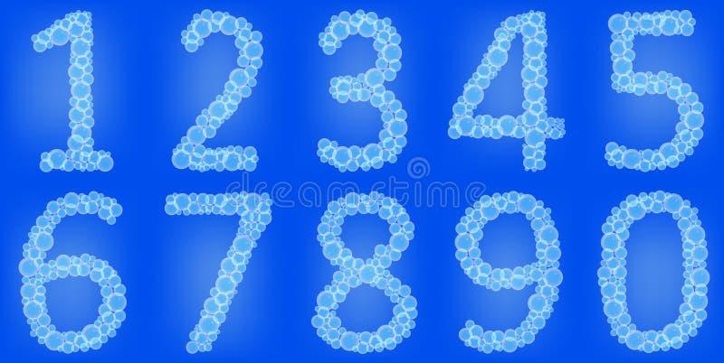 Номера пузырей иллюстрация вектора