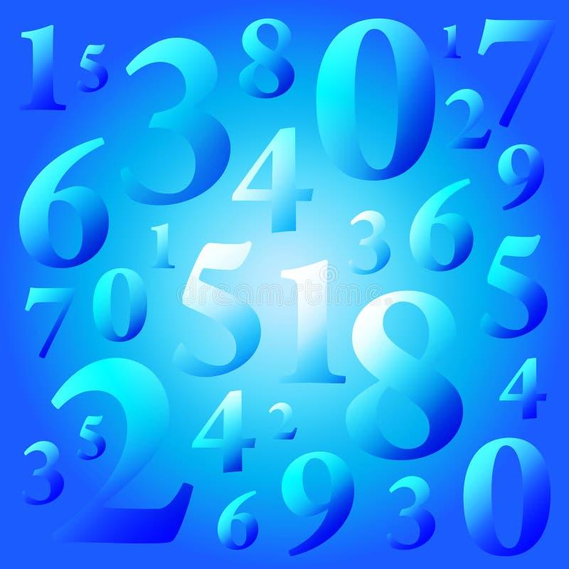 номера иллюстрация вектора