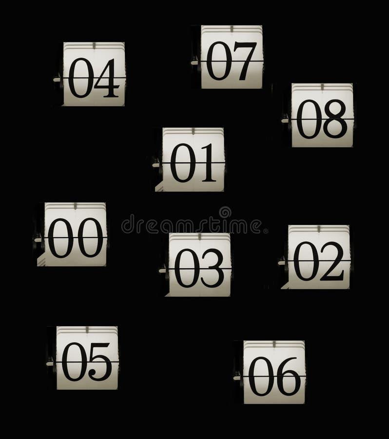 номера flip часов стоковое изображение rf
