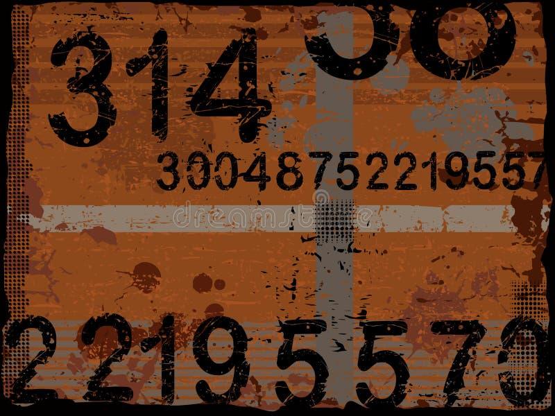 номера grunge иллюстрация вектора