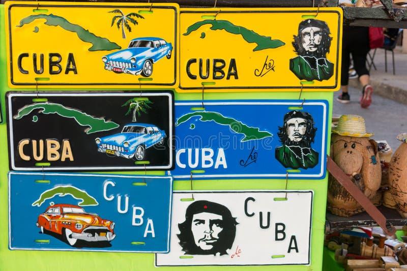 Номерной знак или номерной знак с диаграммой Che Cienfuego стоковое фото