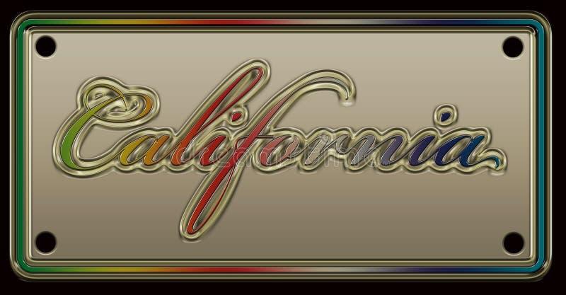Номерной знак Калифорнии иллюстрация вектора