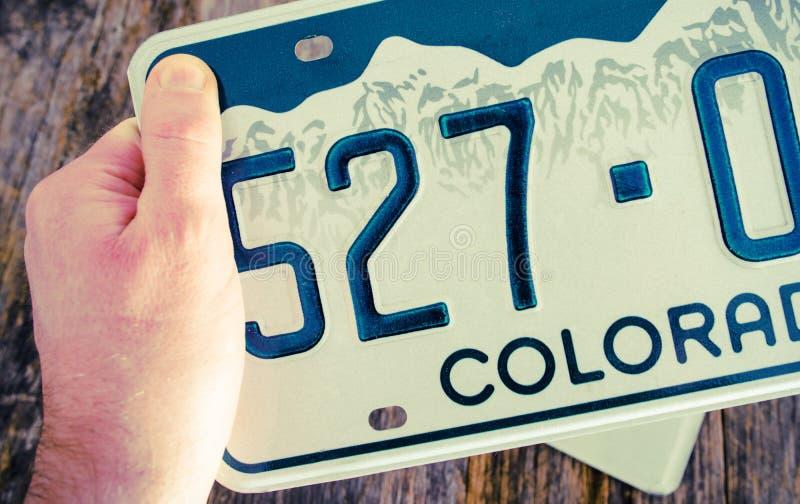 Номерной знак Колорадо стоковое фото rf