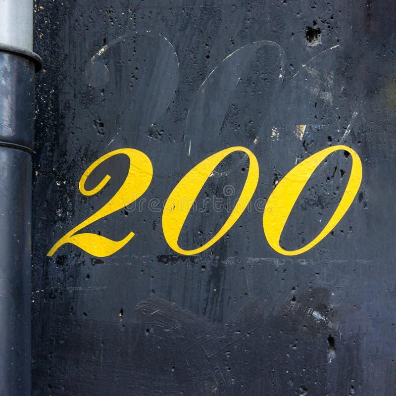 Номер дома 200 стоковая фотография rf