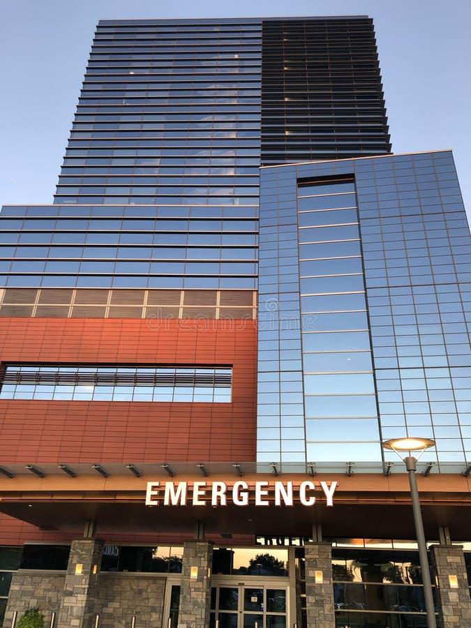 Номер скорой помощи в больнице Стэмфорда в Коннектикуте стоковая фотография