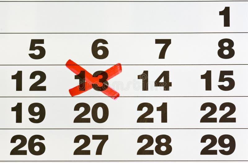 номер 13 календаров стоковое изображение