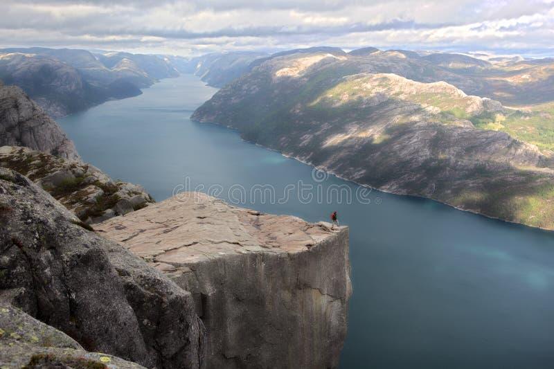 Норвегия preikestolen стоковая фотография