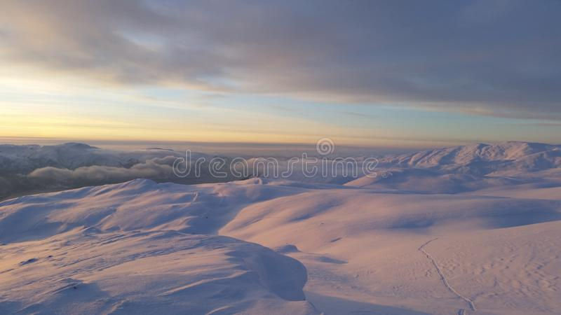 норвежская зима стоковая фотография rf