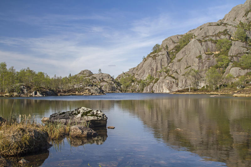 Норвежская дорога Северного моря стоковое фото rf