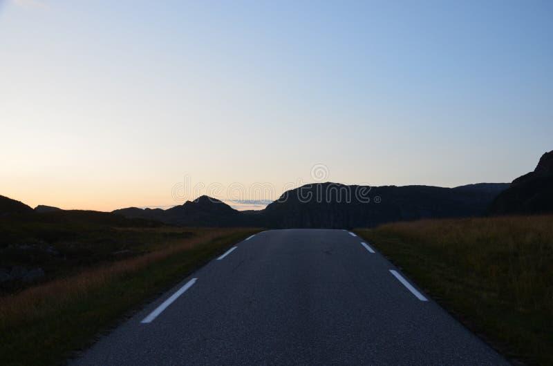норвежская дорога стоковое изображение rf