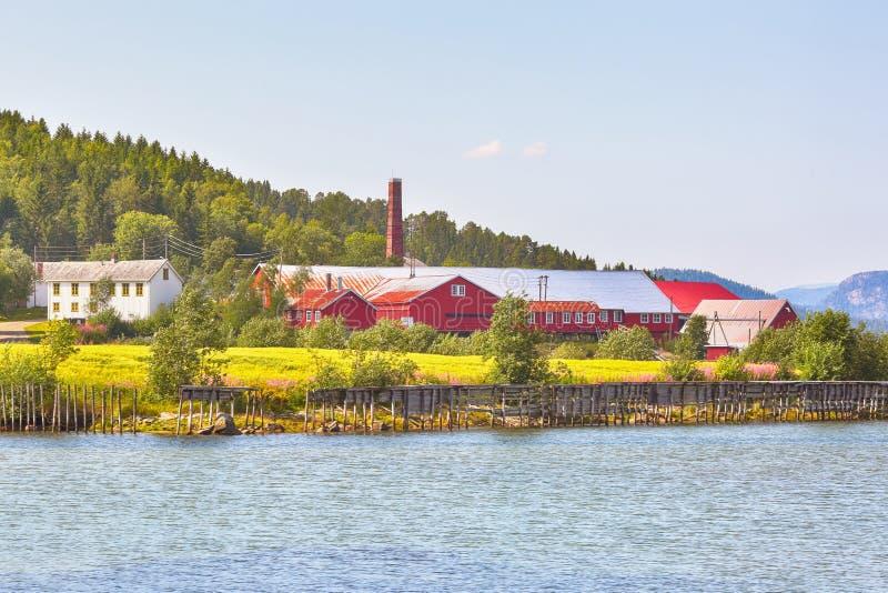 Норвежский музей лесопилки, Namsos стоковое фото rf
