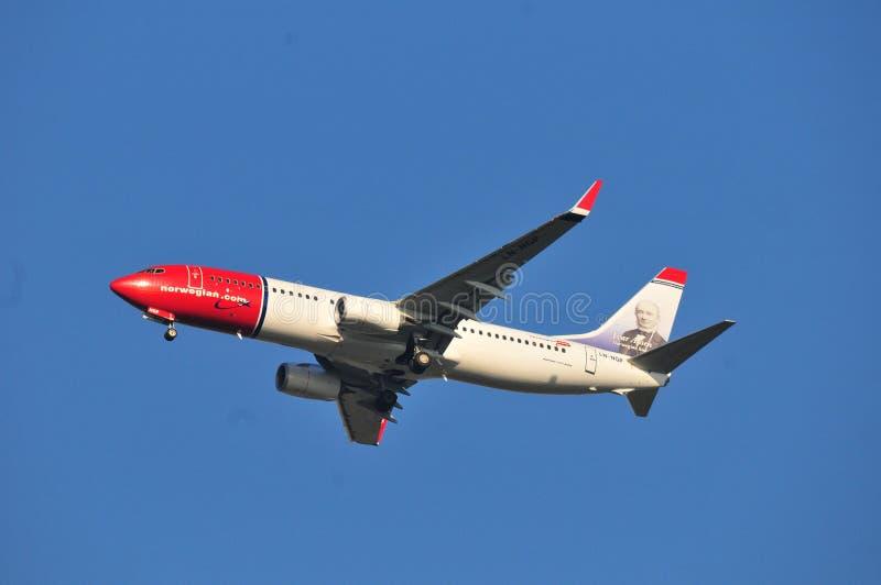 Норвежский самолет воздуха стоковая фотография rf