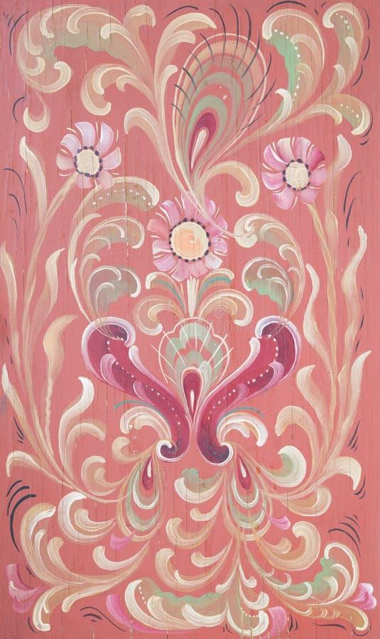 Норвежский традиционный rosepainting стоковые изображения rf