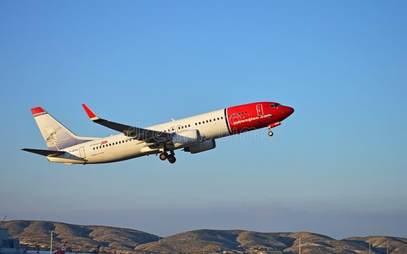 норвежско Пассажирский самолет Com стоковые изображения