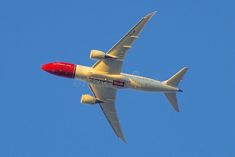 норвежско com Boing 787 Dreamliner стоковые фотографии rf