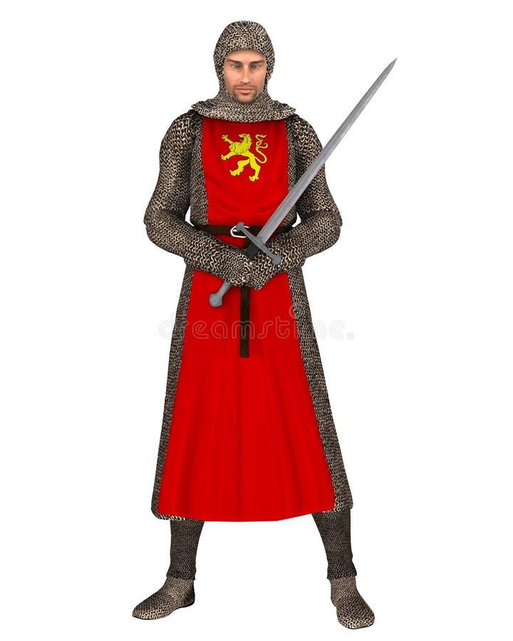 нормандец рыцаря иллюстрация штока