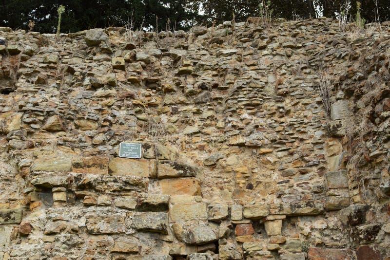 Нормандская защитительная стена остается на замке Tonbridge стоковое фото rf