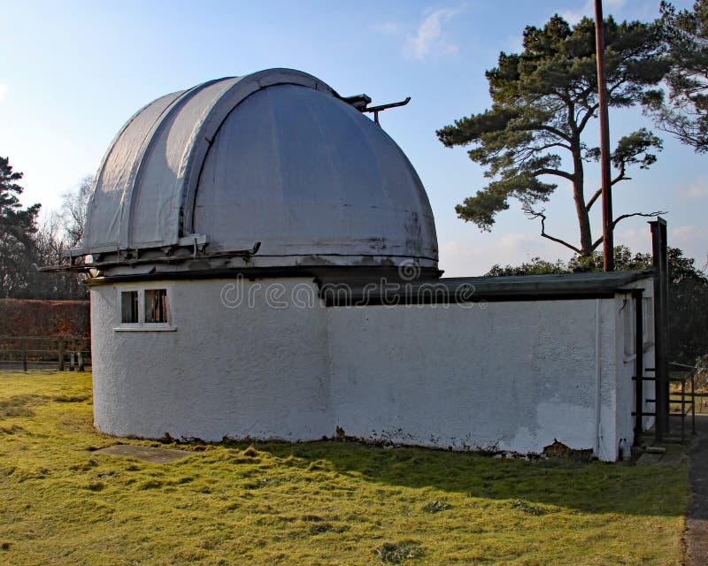 Нормандская обсерватория Lockyer около Sidmouth в Девоне Lockyer было любительским астрономом и часть кредитованная с открытием стоковые фото