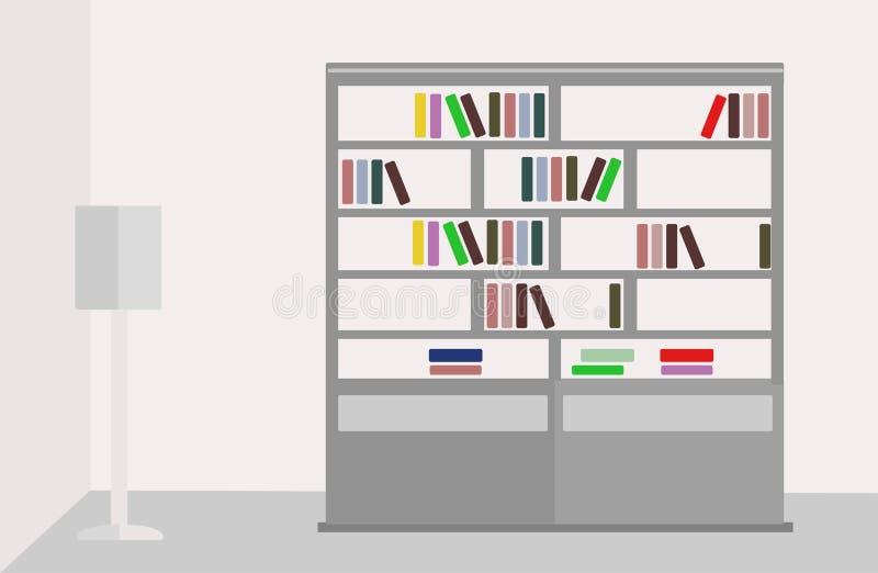 Нормальный книжного шкафа иллюстрация вектора