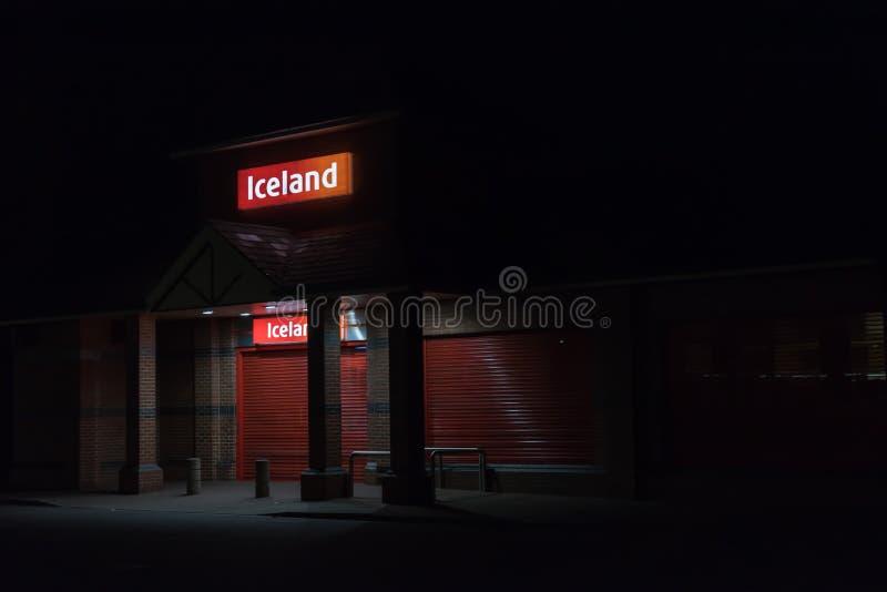 Нортгемптон Великобритания 3-ье октября 2017: Логотип Исландии подписывает внутри Northampton Town центризует стоковое фото rf